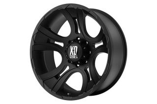 "XD Series XD80179080700   8 x 6.5 Bolt Pattern Black 17"" x 9"" XD Series 801 Crank Matte Black Wheels   Alloy Wheels & Rims"