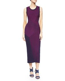 Ohne Titel Long Sleeveless Ribbed Knit Dress