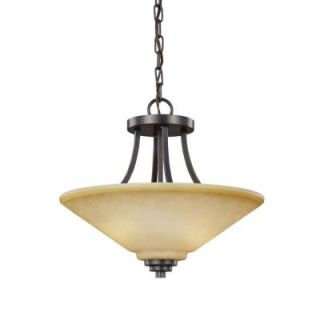 Sea Gull Lighting Parkfield. 2 Light Flemish Bronze Indoor Convertible Semi Flush Mount 7713002BLE 845