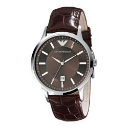 Emporio Armani Mens AR2413 Classic Brown Leather Watch