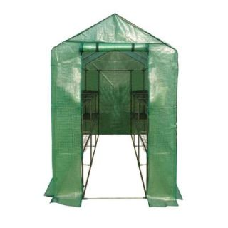 Ogrow 49 in. W x 98 in. D Extra Large Heavy Duty Walk In 2 Tier 12 Shelf Portable Lawn and Garden Greenhouse OG4998 2T12