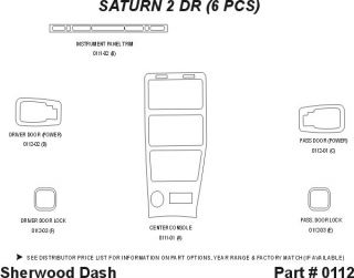 1992, 1993, 1994 Saturn S Series Wood Dash Kits   Sherwood Innovations 0112 CF   Sherwood Innovations Dash Kits