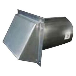 Speedi Products 4 in. Round Galvanized Wall Vent with Spring Return Damper SM RWVD 4