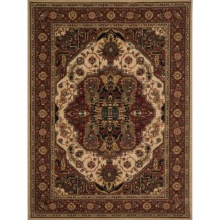 Safavieh Lyndhurst Collection Ivory/Rust Oriental Rug (33 x 53)