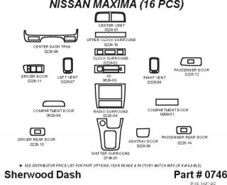 1998, 1999 Nissan Maxima Wood Dash Kits   Sherwood Innovations 0746 N50   Sherwood Innovations Dash Kits