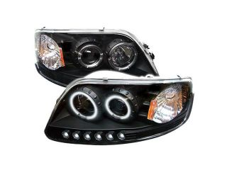 Spyder Auto Ford F150 97 03 / Expedition 97 02 ( Will Not Fit Anything Before Manu. Date June 1997 ) 1PC CCFL LED ( Replaceable LEDs ) Projector Headlights   Black PRO YD FF15097 1P CCFL BK
