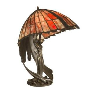 Dale Tiffany 23 in. Red Art Glass Flying Lady Table Lamp DISCONTINUED TT11084