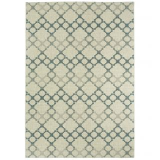 Capel Rugs Elsinore Coal Santorini Trellis Outdoor Area Rug