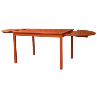 Eco friendly 82 inch Outdoor Eucalyptus Oval Dining Table   16968395