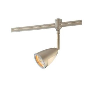 Hampton Bay Flex White Track Lighting Head with Metal/Glass Shade EC9081WH