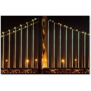 "Trademark Fine Art ""Bay Bridge   San Francisco"" Canvas Art by David Ayash"