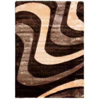 Safavieh Miami Shag Brown/Beige 8 ft. 6 in. x 12 ft. Area Rug SG361 2513 9