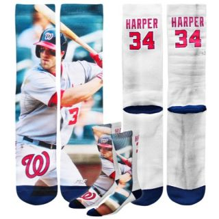 For Bare Feet MLB Sublimated Player Socks   Mens   Baseball   Accessories   Posey, Buster   Multi
