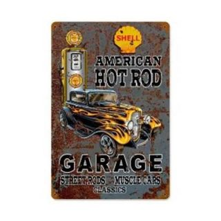 Past Time Signs SM117 Hot Rod Shell Gas Automotive Vintage Metal Sign