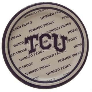 TCU Horned Frogs 8 Pack Lunch Plate Set
