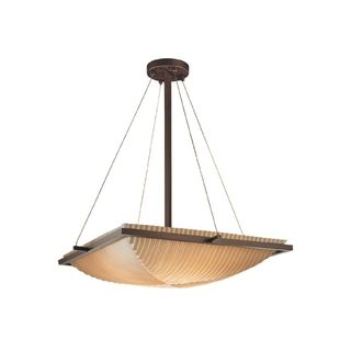 Justice Design Group Porcelina 3 light Ring Pendant Bowl, Pleats