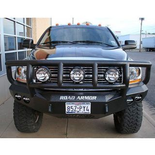 Road Armor Stealth Base Front Bumper With Titan II Guard 2006 2009 Dodge 2500/3500