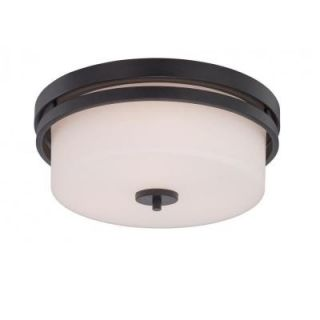 Filament Design Glomar 3 Light Aged Bronze Incandescent Ceiling Flush Mount HD 5307
