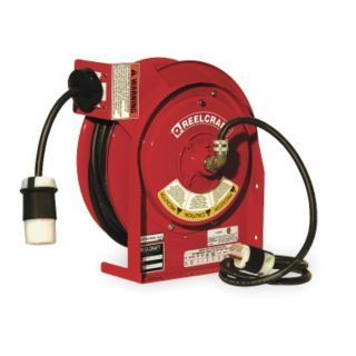 REELCRAFT Red Retractable Cord Reel, 20 Max. Amps, Cord Ending: Single Industrial Connector   Extension Cord Reels   2XHZ9|L 4545 123 3A 1