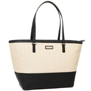 Kate Spade Womens Cedar Street Harmony Natural/ Black Top handle Tote