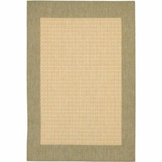 Couristan Recife Checkered Field Rug, Natural/Green