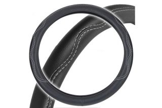 Motor Trend SW 804 BK   Black Performance Grip Leatherette Steering Wheel Cover   Leather Steering Wheel Covers