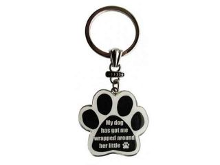 E&S Pets Metal Car Keychain My Dog Has Got Me Wrapped Around His Little Paw