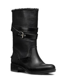 COACH Zena Fold Over Faux Fur Lined Boot