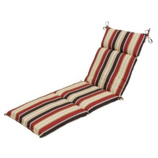 Hampton Bay Majestic Stripe Outdoor Chaise Lounge Cushion 7407 01000200
