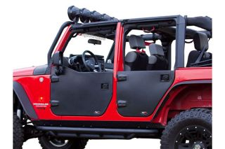 2007 2016 Jeep Wrangler Doors   Rugged Ridge 11509.02   Rugged Ridge Jeep Half Doors