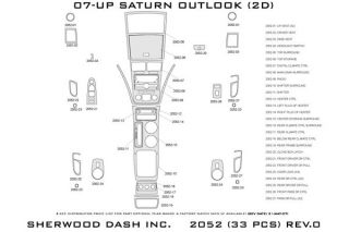 2010 Saturn Outlook Wood Dash Kits   Sherwood Innovations 2052 R   Sherwood Innovations Dash Kits