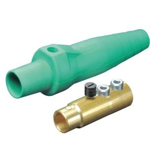 LEVITON 3R, 4X, 12 Taper Nose Connector, Female, Green   Single Pole Devices   13N154|16D33 UG
