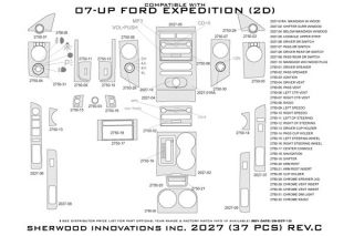 2007 2013 Ford Expedition Wood Dash Kits   Sherwood Innovations 2027 R   Sherwood Innovations Dash Kits