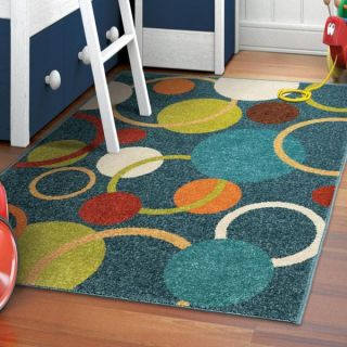 Innocence Collection Circles in the Sky Blue Area Rug (311 x 55)