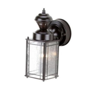 Hampton Bay Shaker Cove Mission 150 Degree Outdoor Oiled Rubbed Bronze Motion Sensing Lantern SL 4133 OR