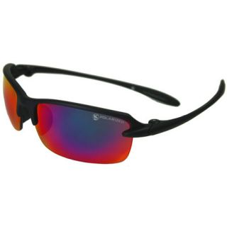 Elite Polarized Sunglasses   Black Frame/Black Red Mirror Lens