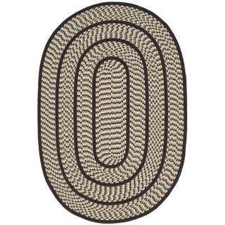 Safavieh Hand woven Reversible Braided Ivory/ Dark Brown Rug (4 x 6