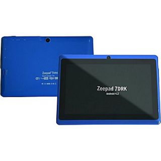 Worryfree Gadgets Zeepad 7DRK, 7 Tablet, 4 GB, Android Jelly Bean, Wi Fi, Blue