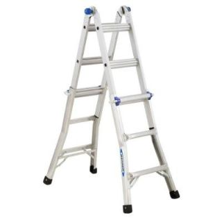Werner 13 ft. Aluminum Telescoping Multi Position Ladder with 300 lb. Load Capacity Type IA Duty Rating MT 13