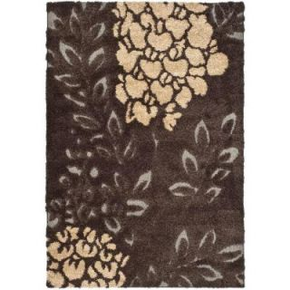 Safavieh Florida Shag Dark Brown/Grey 5 ft. 3 in. x 7 ft. 6 in. Area Rug SG456 2880 5