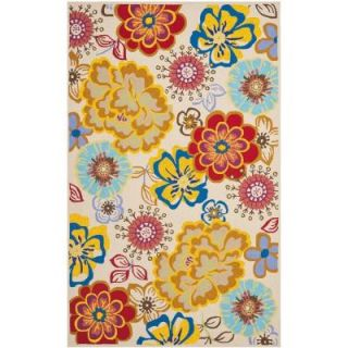 Safavieh Four Seasons Ivory/Multi 5 ft. x 8 ft. Indoor/Outdoor Area Rug FRS467B 5