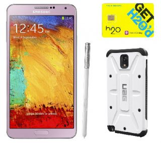 Samsung Galaxy Note 3 Unlocked Phone, S Pen, Case & H2O Sim —