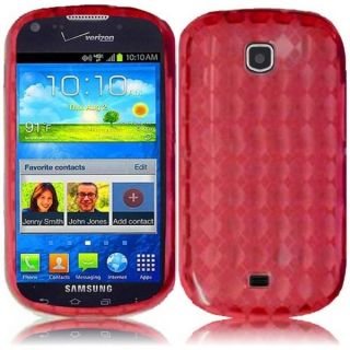 INSTEN Premium Red TPU Rubber Candy Skin Phone Case Cover for Samsung