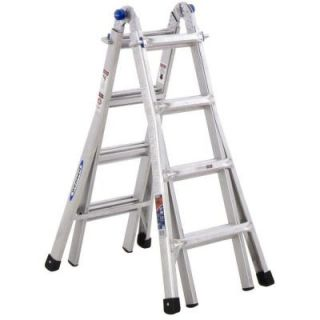 Werner 17 ft. Aluminum Telescoping Multi Position Ladder with 300 lb. Load Capacity Type IA Duty Rating MT 17