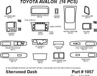 2000 2004 Toyota Avalon Wood Dash Kits   Sherwood Innovations 1057 CF   Sherwood Innovations Dash Kits