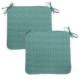 Hampton Bay Rhodes Trellis Outdoor Chair Cushion (2 Pack) DISCONTINUED 7348 02220000