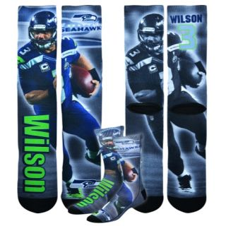For Bare Feet NFL Sublimated Player Socks   Football   Accessories   Seattle Seahawks   Wilson, Russell   Multi