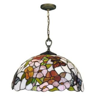 Dale Tiffany 1 Light Butterfly Art Glass Pendant DISCONTINUED STH12056