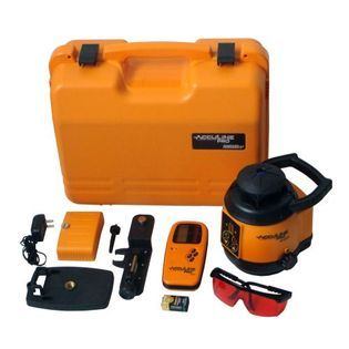 Acculine Pro Self Leveling Rotary Laser Level w/Detector   Tools
