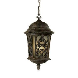Acclaim Lighting Manorgate Collection Hanging Lantern 4 Light Outdoor Black Coral Light Fixture DISCONTINUED 526BC